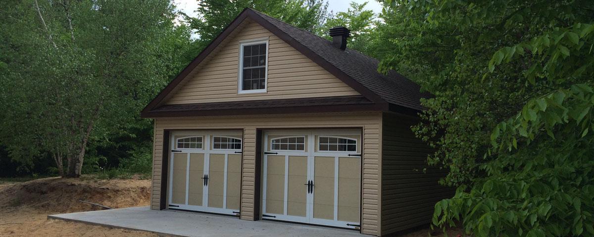 Garages pcc kit garages chalets maisons de campagne for 24x40 garage kit