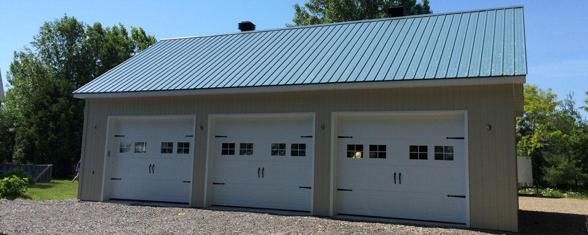 Garages pcc kit garages chalets maisons de campagne for Kit garage 24x40